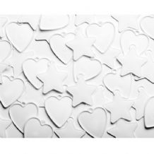 Hearts & Stars Plastic Weights (White) 100pcs